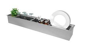 Canal Organizador DeBacco 105cm - Inox