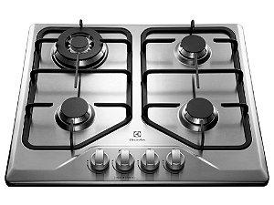 Cooktop à Gás Electrolux em Inox 4 Bocas  Tripla-Chama GT60X