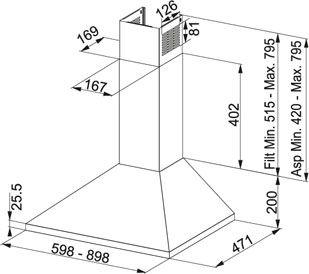Coifa De Parede 90cm Franke Cartesio Vazão 1040m³/h