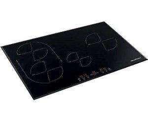 Cooktop de Indução Brastemp 4 Bocas Com Timer Touch  77cm 220V BDJ77AE
