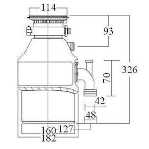 Triturador de Alimentos Franke TE 125  1.25 HP 220