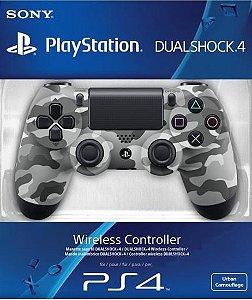 CONTROLE DUALSHOCK 4 PS4 CAMUFLADO CINZA