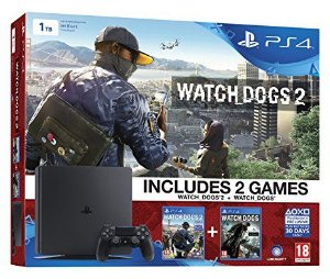 CONSOLE SONY PLAYSTATION 4 1TB BUNDLE WATCH DOGS