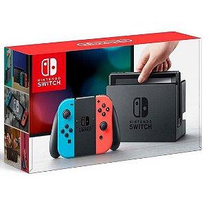 Console Nintendo Switch 32GB - Neon Azul e Neon Vermelho com Jogo Zelda Breath of the Wild
