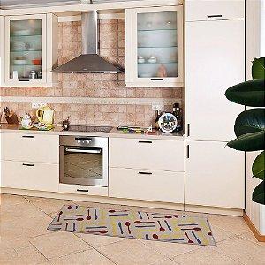 Passadeira para Cozinha 40x1,20 cm Kitchen Talheres - Kapazi