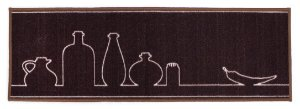 Passadeira para Cozinha 40x1,20 cm Kitchen Sal e Pimenta - Kapazi