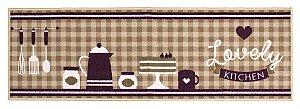 Passadeira para Cozinha 50x160 cm Gourmet Love - Kapazi