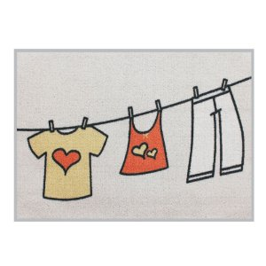 Tapete Laundry Varal 50x70 cm - Kapazi