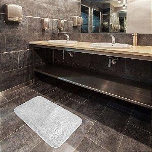 Tapete para Banheiro Topázio Branco 40x60 cm - Kapazi