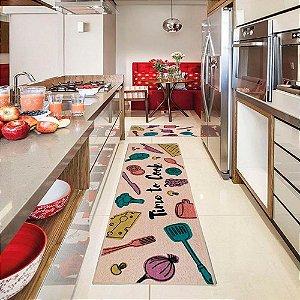 Passadeira para Cozinha 50x1,60 cm Cotton Time - Kapazi
