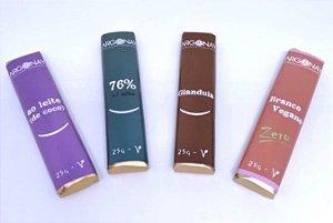 Chocolate Premium Vegano e Sem leite | Argonay Combo - 4 unidades