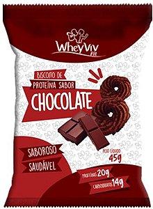 Biscoito Fit de Chocolate com Whey | Sem adição de açúcar (45g)