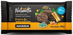Biscoito de Arroz com Pasta de Amendoim e Chocolate Amargo | Zero açúcar e Vegano (40g)