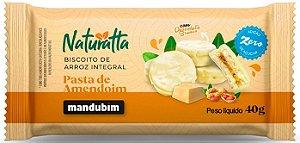 Biscoito de Arroz com Pasta de Amendoim e Chocolate Branco | Zero açúcar (40g)