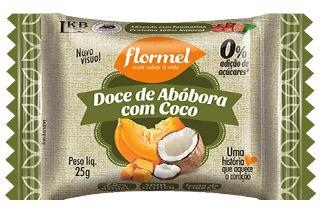 Doce de Abóbora com Coco | Sem adição de açúcar (20g)