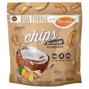 Chips de Coco com Gengibre | Sem adição de açúcar (20g)