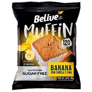Muffin Banana com Canela e Chia | Sem adição de açúcar (40g)