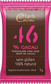 Mini Tablete de Chocolate 46% Cacau (5g)