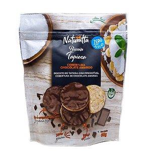 Biscoito de Tapioca coberto com Chocolate Amargo | Zero açúcar (60g)