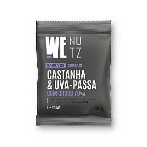 Barra de Castanha e Uva-Passa com choco 70% (30g)