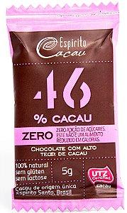Mini Tablete de Chocolate 46% Cacau | Sem adição de açúcares (5g)