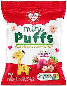 Mini Puffs Biscoito de Arroz com Beterraba e Morango (15g)