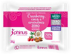 Doce de Cranberry, Coco e Amêndoas | Sem adição de açúcar (25g)