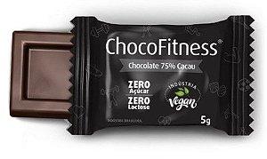 Mini Tablete de Chocolate 75% Cacau | Sem adição de açúcar (5g)