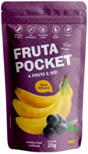 Snack de Banana e Açaí liofilizado - NOVO PESO (20g)
