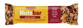 Nuts Bar Castanhas e Proteína Vegana | Zero Açúcar (25g)