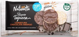 Biscoito de Tapioca com Chocolate Amargo | Zero açúcar e Vegano (15g)