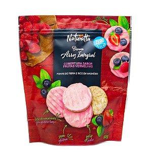 Biscoito de Arroz Integral e cobertura de Frutas Vermelhas | Zero açúcar (60g)