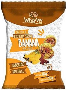 Biscoito Fit de Banana com Whey | Sem adição de açúcar (45g)