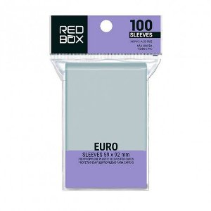Sleeves Euro (59mm X 92mm) - Red Box