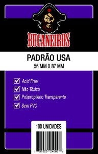 SLEEVES PADRÃO USA (56MM X 87MM) - BUCANEIROS