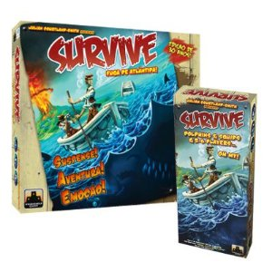 Kit Survive: Jogo Base + Expansão Dolphins & Squids + 5-6 Players