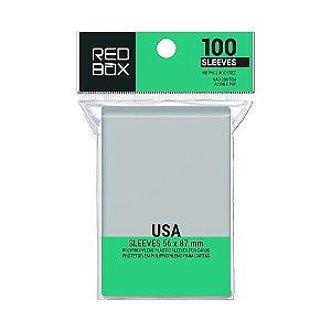 Sleeves Padrão USA (56mm x 87mm) - Red Box