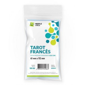 Sleeves Tarot Francês (61mm x 112mm) - Meeple Virus Blue Core