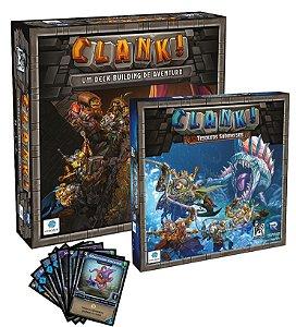Kit Clank!: Jogo Base + Tesouros Submersos + Promo