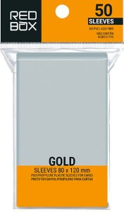 Sleeves Gold (80mm x 120mm) - Red Box