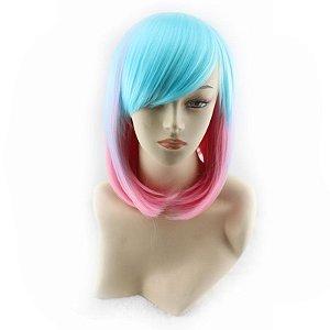Peruca Mix Lolita - Rosa e Azul