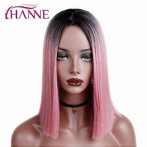 Peruca Curta - Ombre Pink