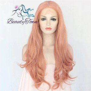 Peruca Front Lace - Rosa Claro Longa