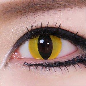Crazy Lens - Olho de Gato Amarelo