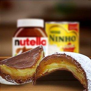 Ovos de Chocolate ao leite recheado de leite Ninho com Nutella