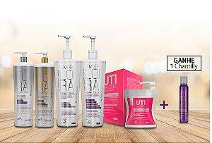 Kit Loiro dos Sonhos Profissional 6 produtos  (1 Uti + 2 Máscaras Matizadoras + 1 Shampoo + 1 Cond. Hydramatt 1L)
