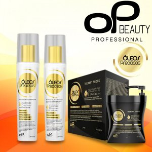 KIT RECONSTRUTOR - todos os tipos de cabelo (01 shampoo+01condicionador 250ml+01 Therapy Shock 450ml)