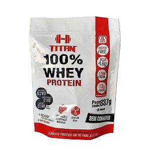 100% Whey Protein 837 g (Chocolate) Titan Suplementos