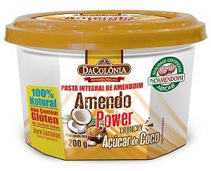 AmendoPower Crunchy com Açúcar de Coco 200g DaColonia