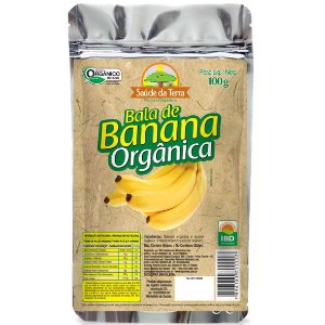 Bala de Banana Orgânica 100g DaColônia